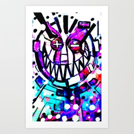 smiley face, Applying all the T's Art Print