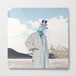 Mr. Pigeon Metal Print