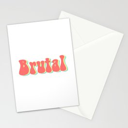 Brutal Rainbow Stationery Cards