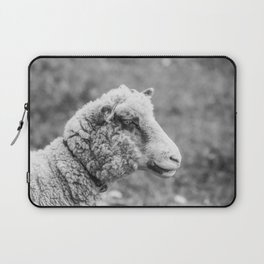 Silence of the Lamb | Black and White Laptop Sleeve