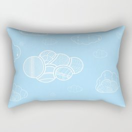 A cloudy sky Rectangular Pillow