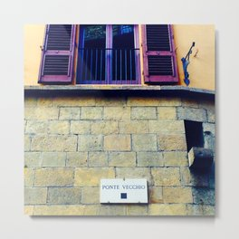 Ponte Vecchio Sign Metal Print