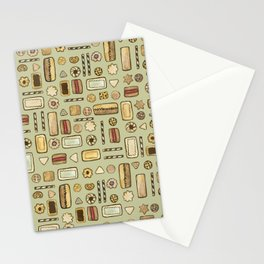 cookies green Stationery Cards