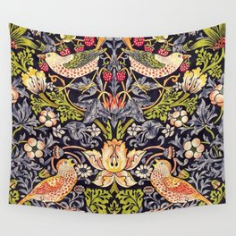 William Morris Strawberry Thief Art Nouveau Painting Wall Tapestry