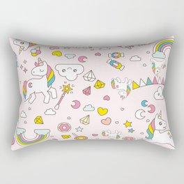 Unicorn Pattern Rectangular Pillow