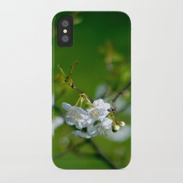 white blossom iPhone Case