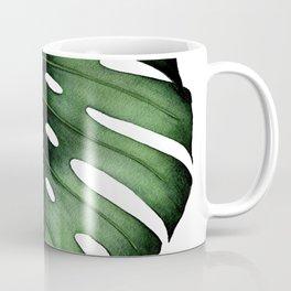 Green Monstera Leaf Coffee Mug