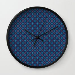Winter Knit Snowflakes Wall Clock
