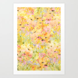 Buttercup Fields Forever Art Print
