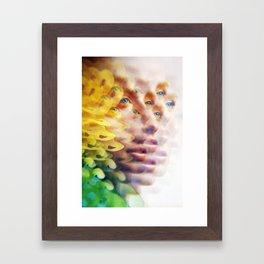Butterfly Eyes Framed Art Print