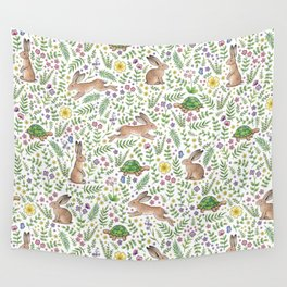 Spring Time Tortoises and Hares Wall Tapestry