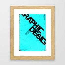 Graphic Design Poster Framed Art Print