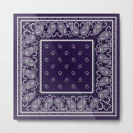 Royal Purple Bandana Metal Print