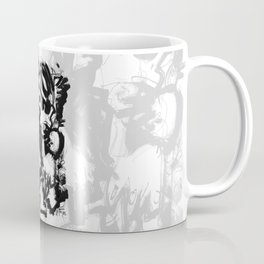 Saint With Bird - b&w Coffee Mug