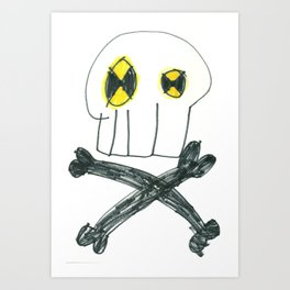 """Toxic Skull"" Art Print"