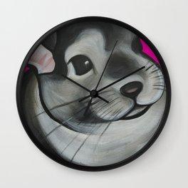 Bella the Chinchilla Wall Clock