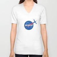 nasa V-neck T-shirts featuring Bebop Nasa by AngoldArts