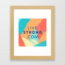 Livestrong Pillow 2 Framed Art Print