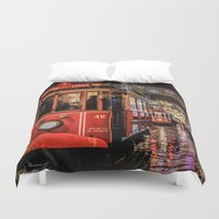 istanbul Duvet Covers featuring Istanbul by Seza Kaymak
