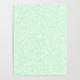 Tiny Spots - White and Mint Green Poster
