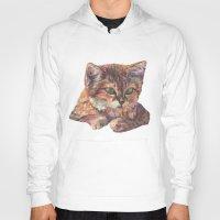 meow Hoodies featuring Meow by Emma Reznikova