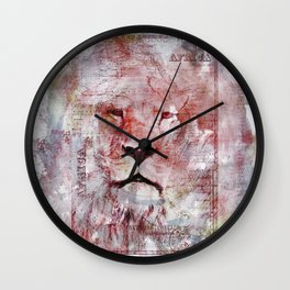 Watercolor Lion Vintage Africa Illustration Wall Clock