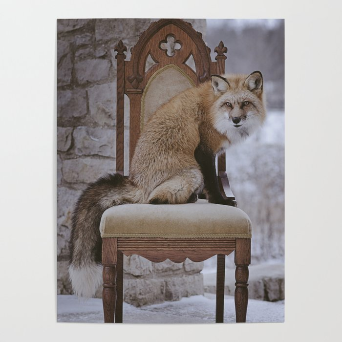 Fox on a Throne Poster