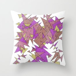 Abstract Edges #3 Throw Pillow