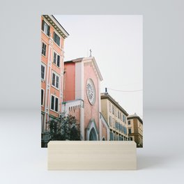 Pastel colored street | Travel photography print Rome, Italy | Pastel colored wall art Mini Art Print