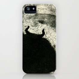 Minotaur in Hiding iPhone Case