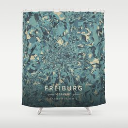 Freiburg, Germany - Cream Blue Shower Curtain