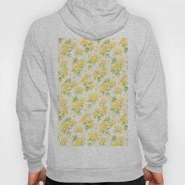 Modern  sunshine yellow green hortensia flowers Hoody