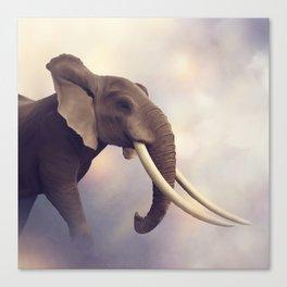 African Elephant Portrait .Digital painting Canvas Print