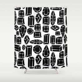 gemstone black and white Shower Curtain