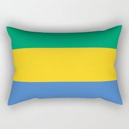 Gabon Flag Rectangular Pillow