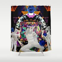 coven Shower Curtains featuring Surrealist's Coven by Nicholas Lucius.