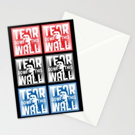 AMERICA : Ronald Regan : Tear Down This Wall Stationery Cards