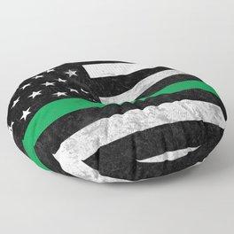 Thin Green Line Floor Pillow