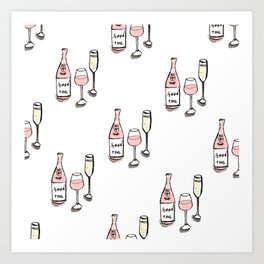 PATTERN II Rosé & Sparkling Wine Art Print
