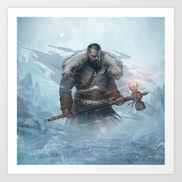 Yarn the Hero Official Art from Nordic Warriors Art Print