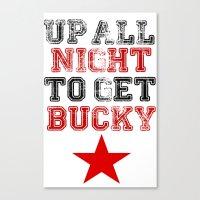 bucky barnes Canvas Prints featuring Up All Night Bucky Barnes by BethTheKilljoy