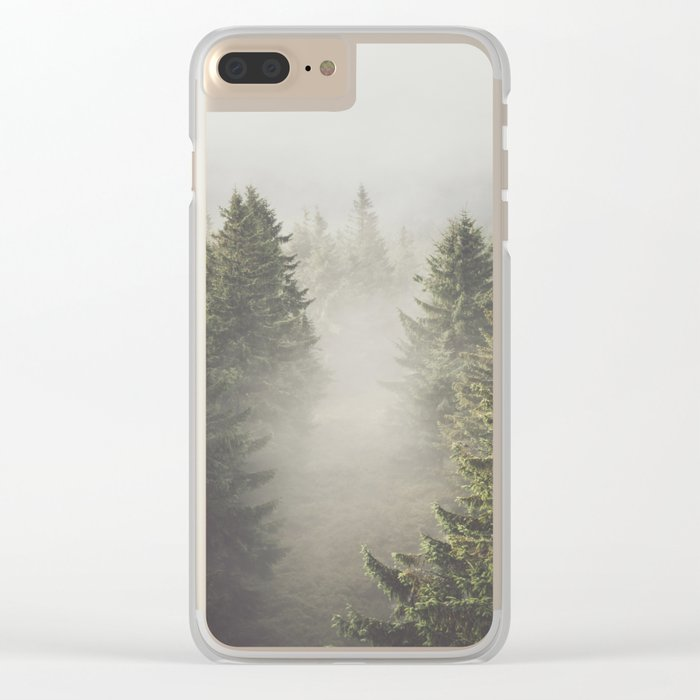 My misty way Clear iPhone Case