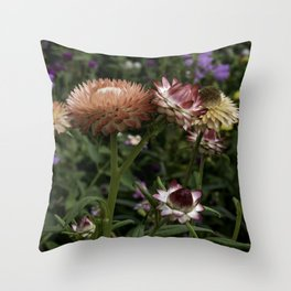 Color Therapy with Nature Throw Pillow