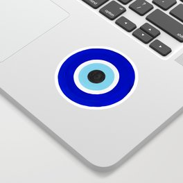 Evil Eye Charms on White Sticker