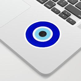 Evil Eye Charms on White Sticker
