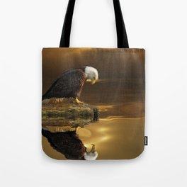 Gratitude - Bald Eagle At Prayer Tote Bag