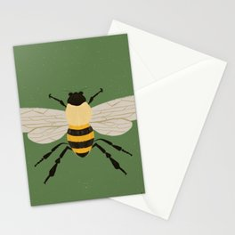 Save The Bees - Green Stationery Cards