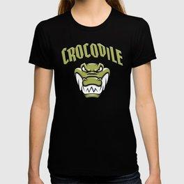 Green crocodile head mascot T-shirt