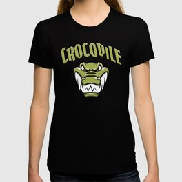 Green crocodile head mascot T-shirt