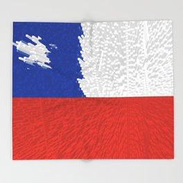 Extruded Flag of Chile Throw Blanket